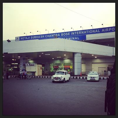 A taxi cab outside the Kolkata airport.  Such a quaint and beautiful city.