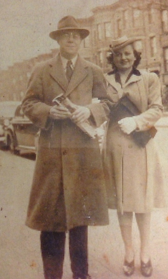 My Grandpa and Grandma step out in New York City.  So classy.