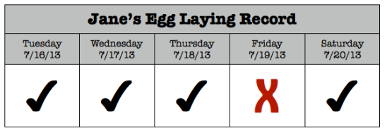 Can you believe we've gotten an egg 4 out of the past 5 days?