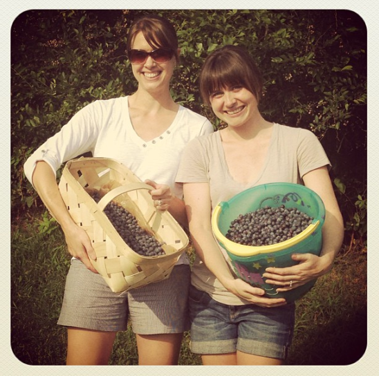 Rebecca and I proudly displaying our haul.