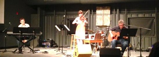Showtime!  Concert in Greensboro.