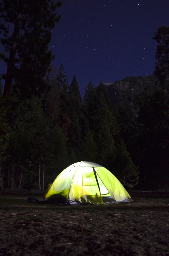 Keith captured this amazing shot of our Yosemite campground at night with some tips from our amazing photographer friend (and fellow camper) Jason Ward.