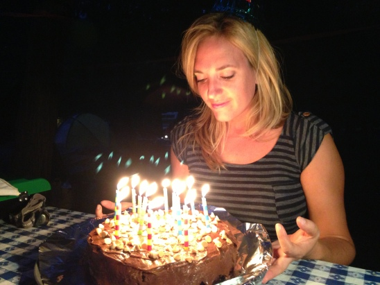 Happy Birthday, Alexis!  Can you believe this amazing cake was cooked over a campfire?