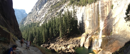 Hiking Past Vernal Falls....mile 6 of our 8 mile hike.