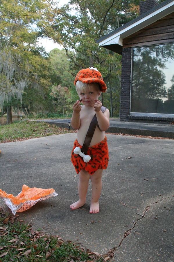 2 yrs Bamm Bamm  sc 1 st  Two Girls Blog - WordPress.com & toddler halloween costume | Two Girls Blog