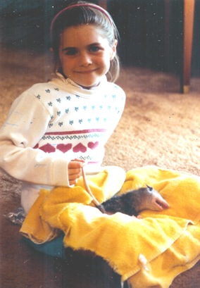 Bethany and Dusty the Possum - November 1987
