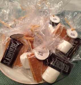 Individual s'mores kits by Holli!  So yummy and so cute!