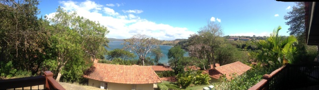 The view from our hotel room porch.