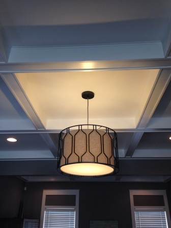 finished light fixture hanging in our living room!  we love it!