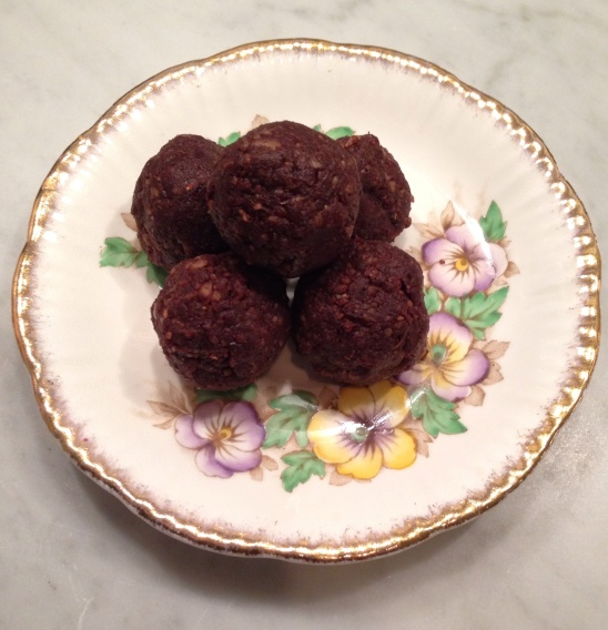 "Finished and ready to eat!  They may be called ""Brownie"" Bites, but they are almost more of a truffle!  Delicious!"