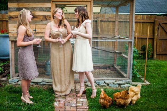 Nothing sells bridesmaid dresses quite like a chicken themed ad....right?
