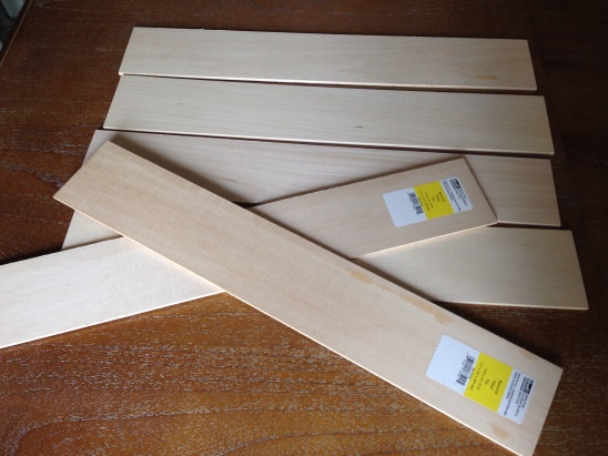 Balsa wood planks from Michael's.
