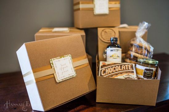Gift boxes by Batch.  We were so excited to receive a box with lots of local personal care products and an adorable dishtowel!
