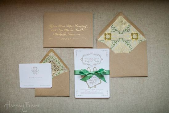 Paper goods by Maria of Green Bean Paper co.  Such a fun girl and such adorable paper goods.