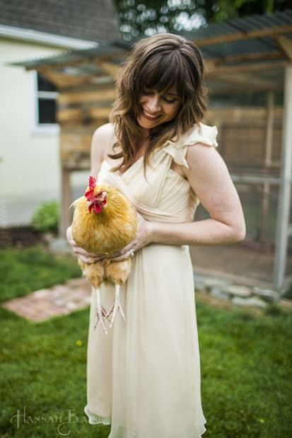 "The dresses were ""you break it, you buy it"" which proved not conducive to chicken holding."